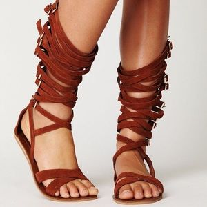Jeffrey Campbell Romana Leather Gladiator Sandal